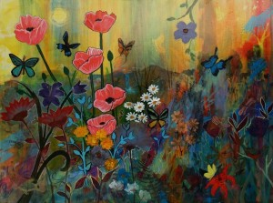 pink poppies in paradise - robin maria pedrero